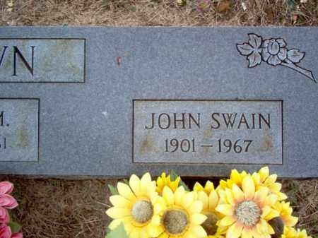 BROWN, JOHN SWAIN - Cross County, Arkansas | JOHN SWAIN BROWN - Arkansas Gravestone Photos