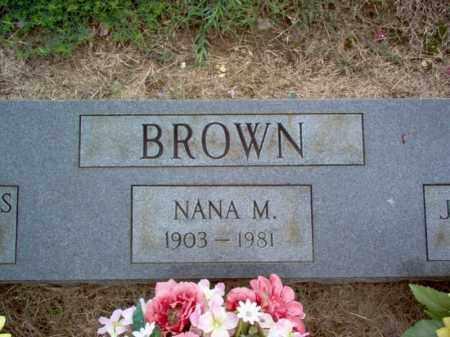BROWN, NANA M - Cross County, Arkansas | NANA M BROWN - Arkansas Gravestone Photos