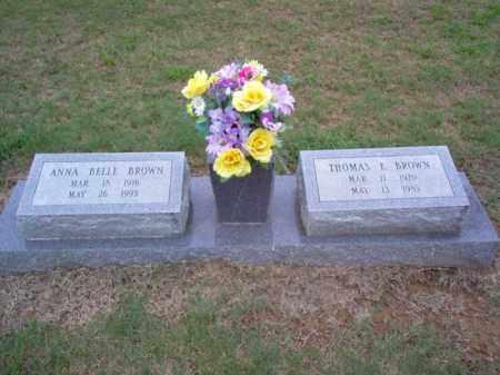 BROWN, ANNA BELLE - Cross County, Arkansas | ANNA BELLE BROWN - Arkansas Gravestone Photos