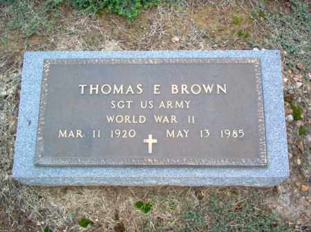 BROWN (VETERAN WWII), THOMAS E - Cross County, Arkansas | THOMAS E BROWN (VETERAN WWII) - Arkansas Gravestone Photos