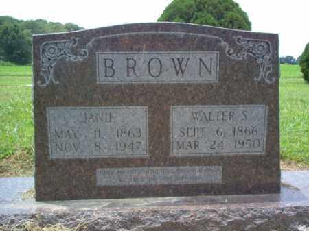 BROWN, JANIE - Cross County, Arkansas | JANIE BROWN - Arkansas Gravestone Photos