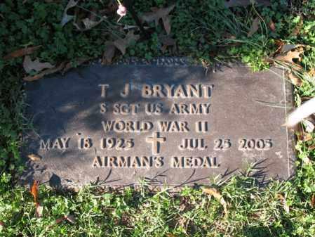 BRYANT (VETERAN WWII), T J - Cross County, Arkansas   T J BRYANT (VETERAN WWII) - Arkansas Gravestone Photos