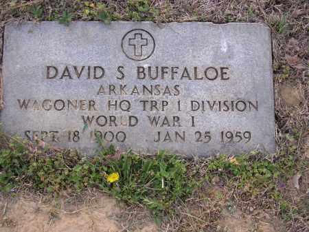 BUFFALOE  (VETERAN WWI), DAVID S - Cross County, Arkansas | DAVID S BUFFALOE  (VETERAN WWI) - Arkansas Gravestone Photos