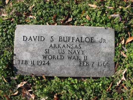 BUFFALOE, JR (VETERAN WWII), DAVID SCHUMANN - Cross County, Arkansas | DAVID SCHUMANN BUFFALOE, JR (VETERAN WWII) - Arkansas Gravestone Photos