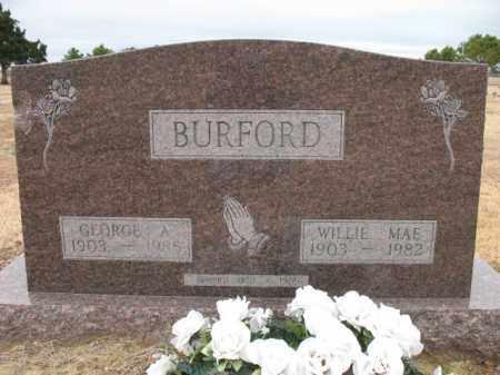 BURFORD, GEORGE A - Cross County, Arkansas | GEORGE A BURFORD - Arkansas Gravestone Photos