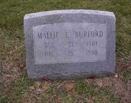 BURFORD, MALLIE L - Cross County, Arkansas | MALLIE L BURFORD - Arkansas Gravestone Photos
