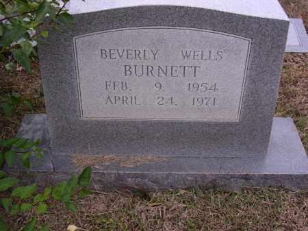 WELLS BURNETT, BEVERLY - Cross County, Arkansas   BEVERLY WELLS BURNETT - Arkansas Gravestone Photos