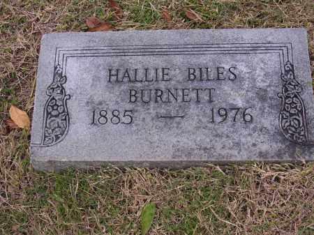 BURNETT, HALLIE BILES - Cross County, Arkansas | HALLIE BILES BURNETT - Arkansas Gravestone Photos