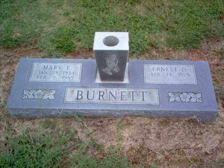 BURNETT, MARY E - Cross County, Arkansas   MARY E BURNETT - Arkansas Gravestone Photos