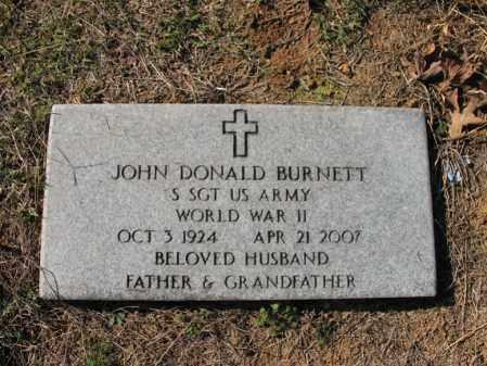 BURNETT (VETERAN WWII), JOHN DONALD - Cross County, Arkansas | JOHN DONALD BURNETT (VETERAN WWII) - Arkansas Gravestone Photos