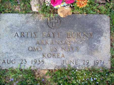BURNS (VETERAN KOR), ARTIS FAYE - Cross County, Arkansas | ARTIS FAYE BURNS (VETERAN KOR) - Arkansas Gravestone Photos