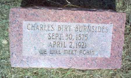 BURNSIDES, CHARLES BIRT - Cross County, Arkansas | CHARLES BIRT BURNSIDES - Arkansas Gravestone Photos