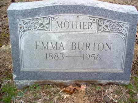 BURTON, EMMA - Cross County, Arkansas | EMMA BURTON - Arkansas Gravestone Photos