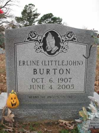 BURTON, MARGARET ERLINE - Cross County, Arkansas | MARGARET ERLINE BURTON - Arkansas Gravestone Photos