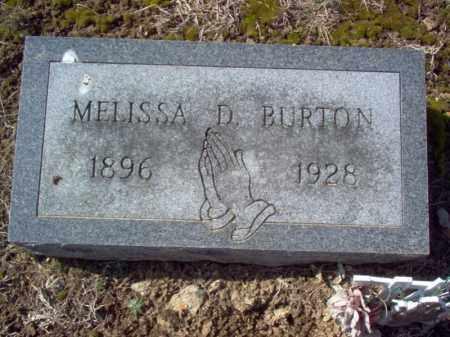 BURTON, MELISSA D - Cross County, Arkansas | MELISSA D BURTON - Arkansas Gravestone Photos