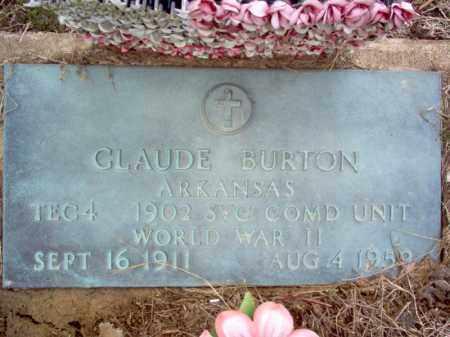 BURTON (VETERAN WWII), CLAUDE - Cross County, Arkansas   CLAUDE BURTON (VETERAN WWII) - Arkansas Gravestone Photos