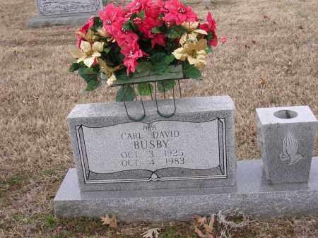 BUSBY, CARL DAVID - Cross County, Arkansas | CARL DAVID BUSBY - Arkansas Gravestone Photos