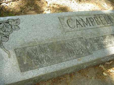 CAMPBELL, MARY JANE - Cross County, Arkansas | MARY JANE CAMPBELL - Arkansas Gravestone Photos