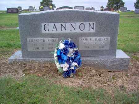 CANNON, SAMUEL EARNEST - Cross County, Arkansas   SAMUEL EARNEST CANNON - Arkansas Gravestone Photos