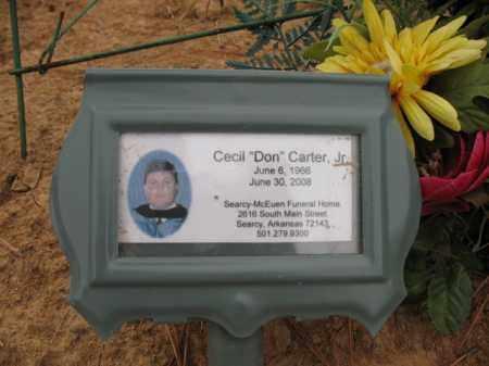 "CARTER, JR., CECIL ""DON"" - Cross County, Arkansas | CECIL ""DON"" CARTER, JR. - Arkansas Gravestone Photos"
