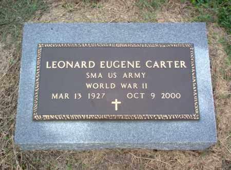 CARTER (VETERAN WWII), LEONARD EUGENE - Cross County, Arkansas | LEONARD EUGENE CARTER (VETERAN WWII) - Arkansas Gravestone Photos