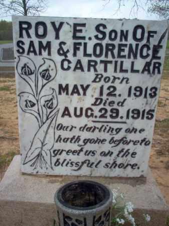 CARTILLAR, ROY E - Cross County, Arkansas | ROY E CARTILLAR - Arkansas Gravestone Photos