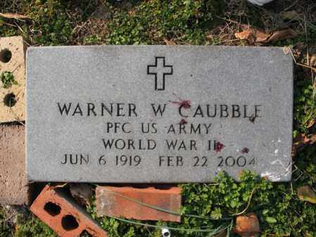 CAUBBLE (VETERAN WWII), WARNER WALTER - Cross County, Arkansas   WARNER WALTER CAUBBLE (VETERAN WWII) - Arkansas Gravestone Photos