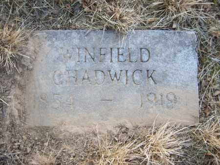CHADWICK, WINFIELD - Cross County, Arkansas | WINFIELD CHADWICK - Arkansas Gravestone Photos