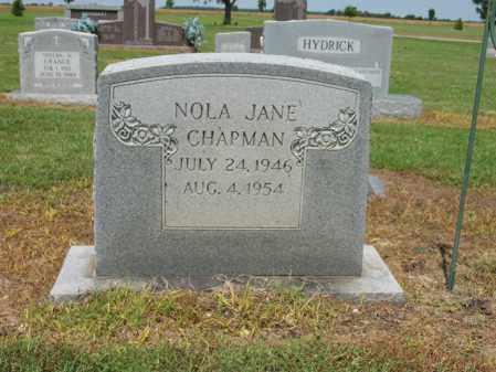 CHAPMAN, NOLA JANE - Cross County, Arkansas   NOLA JANE CHAPMAN - Arkansas Gravestone Photos