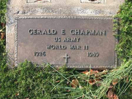 CHAPMAN (VETERAN WWII), GERALD E - Cross County, Arkansas | GERALD E CHAPMAN (VETERAN WWII) - Arkansas Gravestone Photos