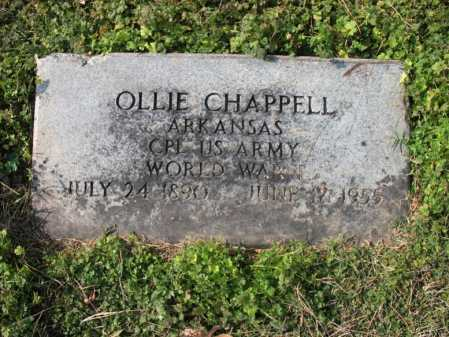 CHAPPELL (VETERAN WWI), OLLIE - Cross County, Arkansas | OLLIE CHAPPELL (VETERAN WWI) - Arkansas Gravestone Photos