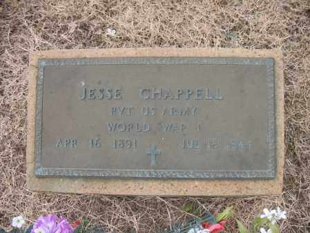 CHAPPELL (VETERAN WWI), JESSE - Cross County, Arkansas | JESSE CHAPPELL (VETERAN WWI) - Arkansas Gravestone Photos