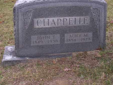 CHAPPELLE, ALICE M - Cross County, Arkansas | ALICE M CHAPPELLE - Arkansas Gravestone Photos