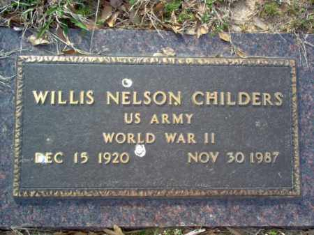 CHILDERS (VETERAN WWII), WILLIS NELSON - Cross County, Arkansas | WILLIS NELSON CHILDERS (VETERAN WWII) - Arkansas Gravestone Photos