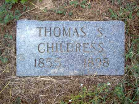 CHILDRESS, THOMAS S - Cross County, Arkansas | THOMAS S CHILDRESS - Arkansas Gravestone Photos
