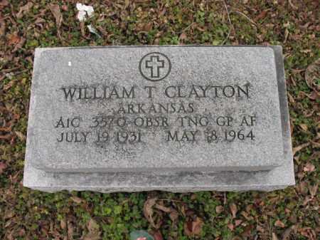 CLAYTON (VETERAN), WILLIAM T - Cross County, Arkansas   WILLIAM T CLAYTON (VETERAN) - Arkansas Gravestone Photos