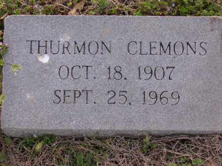 CLEMONS, THURMON - Cross County, Arkansas   THURMON CLEMONS - Arkansas Gravestone Photos