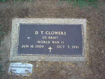 CLOWERS (VETERAN WWII), D T - Cross County, Arkansas   D T CLOWERS (VETERAN WWII) - Arkansas Gravestone Photos