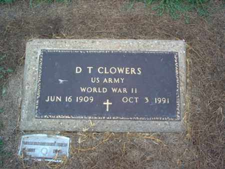 CLOWERS (VETERAN WWII), D T - Cross County, Arkansas | D T CLOWERS (VETERAN WWII) - Arkansas Gravestone Photos