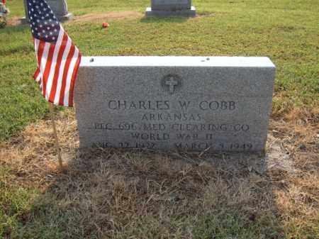 COBB (VETERAN WWII), CHARLES W - Cross County, Arkansas | CHARLES W COBB (VETERAN WWII) - Arkansas Gravestone Photos