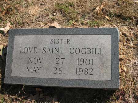 COGBILL, LOVE SAINT - Cross County, Arkansas   LOVE SAINT COGBILL - Arkansas Gravestone Photos