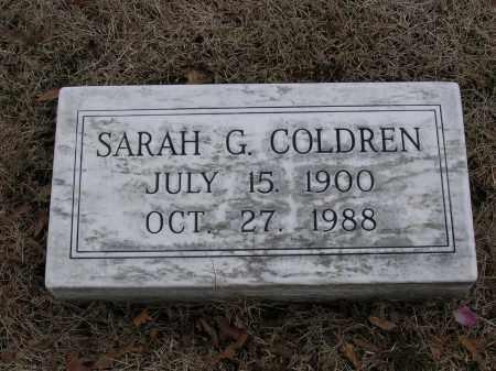 COLDREN, SARAH G - Cross County, Arkansas | SARAH G COLDREN - Arkansas Gravestone Photos