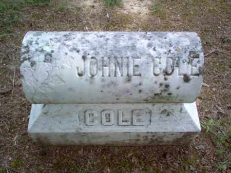 COLE, JOHNIE - Cross County, Arkansas | JOHNIE COLE - Arkansas Gravestone Photos