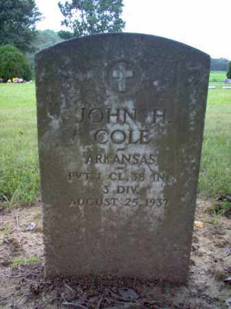 COLE (VETERAN), JOHN H - Cross County, Arkansas   JOHN H COLE (VETERAN) - Arkansas Gravestone Photos