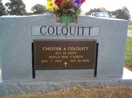 COLQUITT (VETERAN 2 WARS), CHESTER A - Cross County, Arkansas | CHESTER A COLQUITT (VETERAN 2 WARS) - Arkansas Gravestone Photos