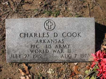 COOK (VETERAN WWII), CHARLES C - Cross County, Arkansas   CHARLES C COOK (VETERAN WWII) - Arkansas Gravestone Photos