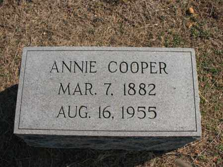 COOPER, ANNIE - Cross County, Arkansas | ANNIE COOPER - Arkansas Gravestone Photos