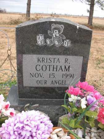 COTHAM, KRISTA R - Cross County, Arkansas   KRISTA R COTHAM - Arkansas Gravestone Photos