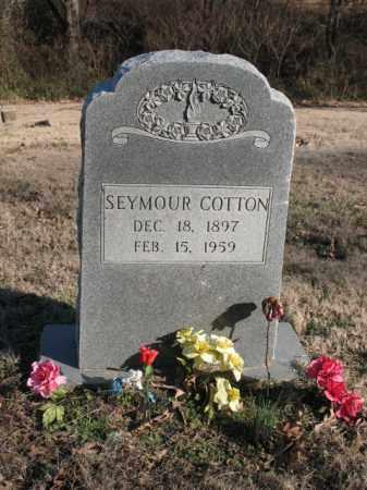 COTTON, SEYMOUR - Cross County, Arkansas   SEYMOUR COTTON - Arkansas Gravestone Photos