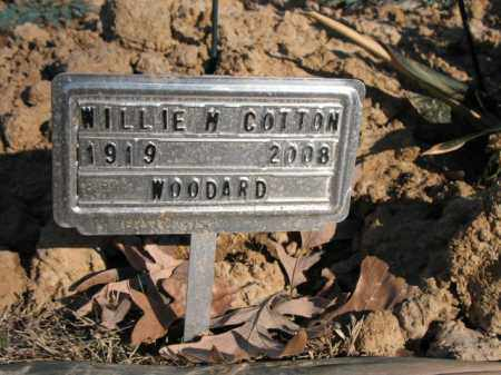 COTTON, WILLIE M - Cross County, Arkansas | WILLIE M COTTON - Arkansas Gravestone Photos
